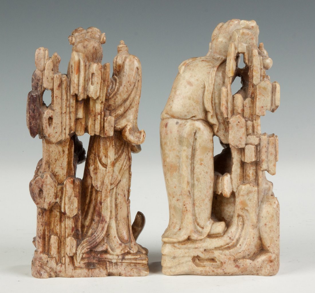 Carved Chinese Soapstone Immortals - 2