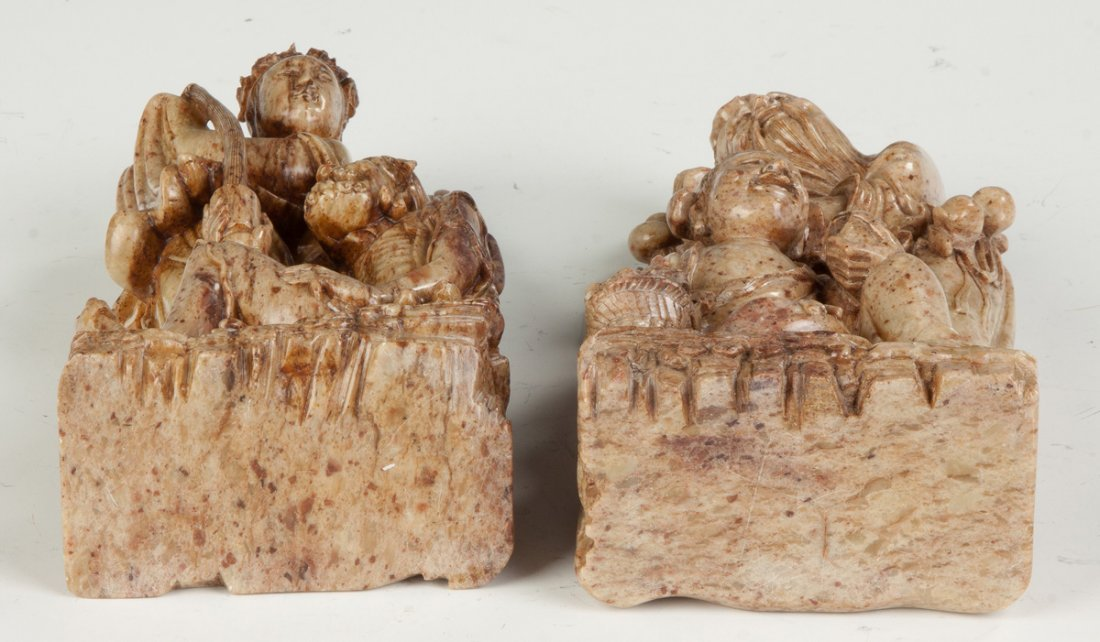 Carved Chinese Soapstone Immortals - 3
