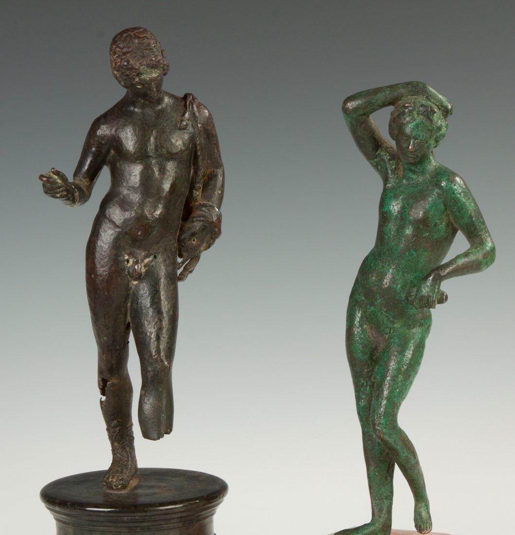 Two Roman Bronze Figure of a Male and Female - 2
