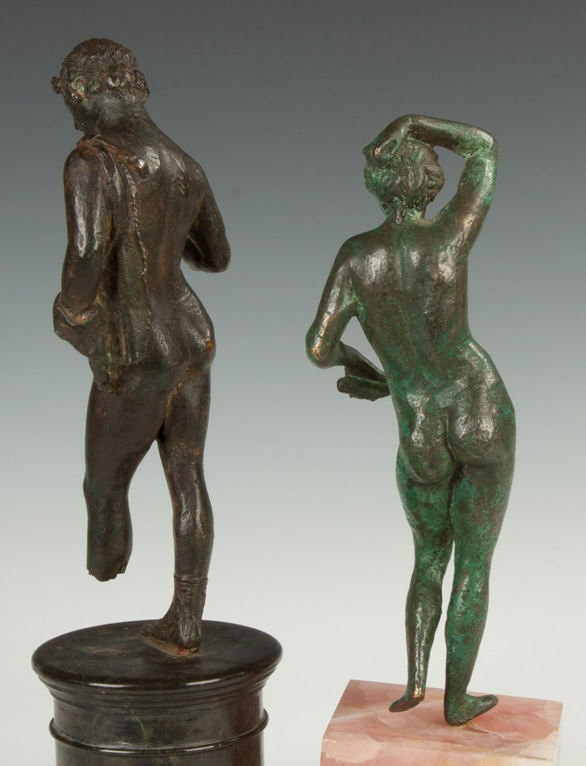 Two Roman Bronze Figure of a Male and Female - 3