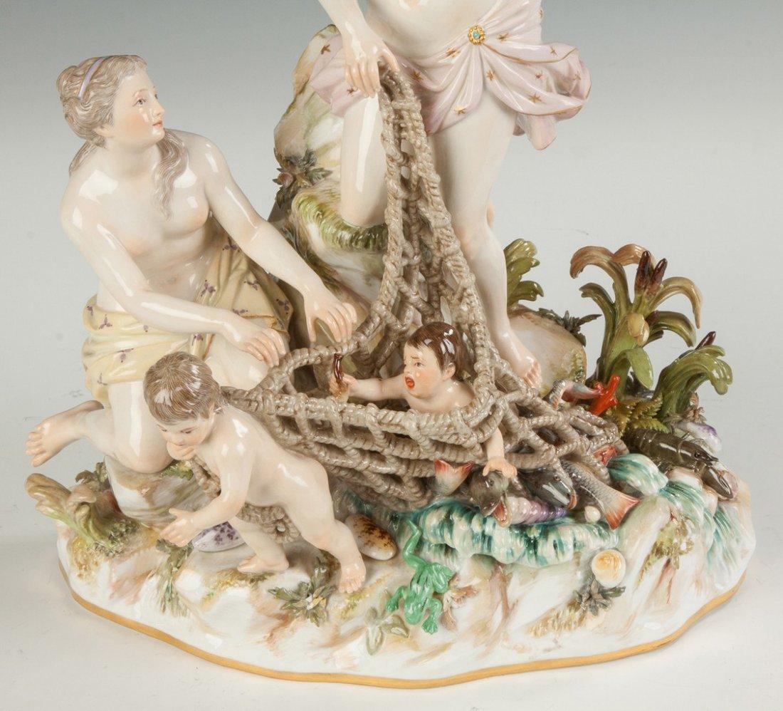 Meissen Porcelain Figural Group, Aquatic Motif - 2