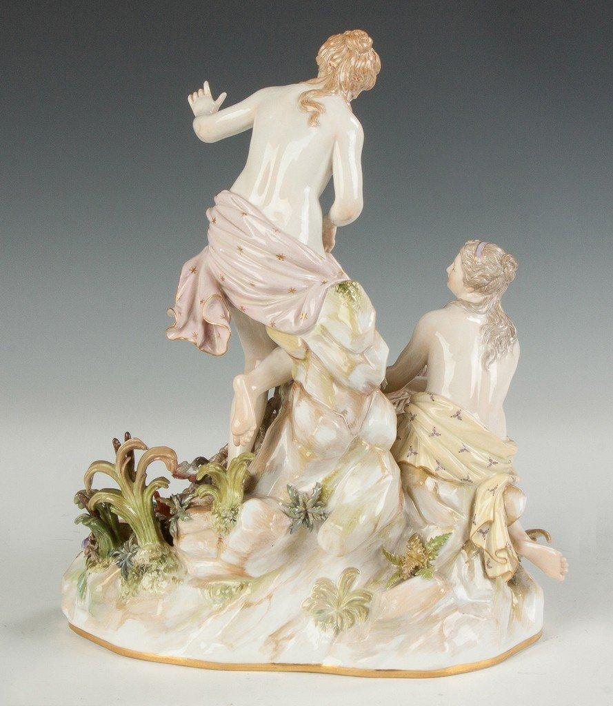 Meissen Porcelain Figural Group, Aquatic Motif - 3
