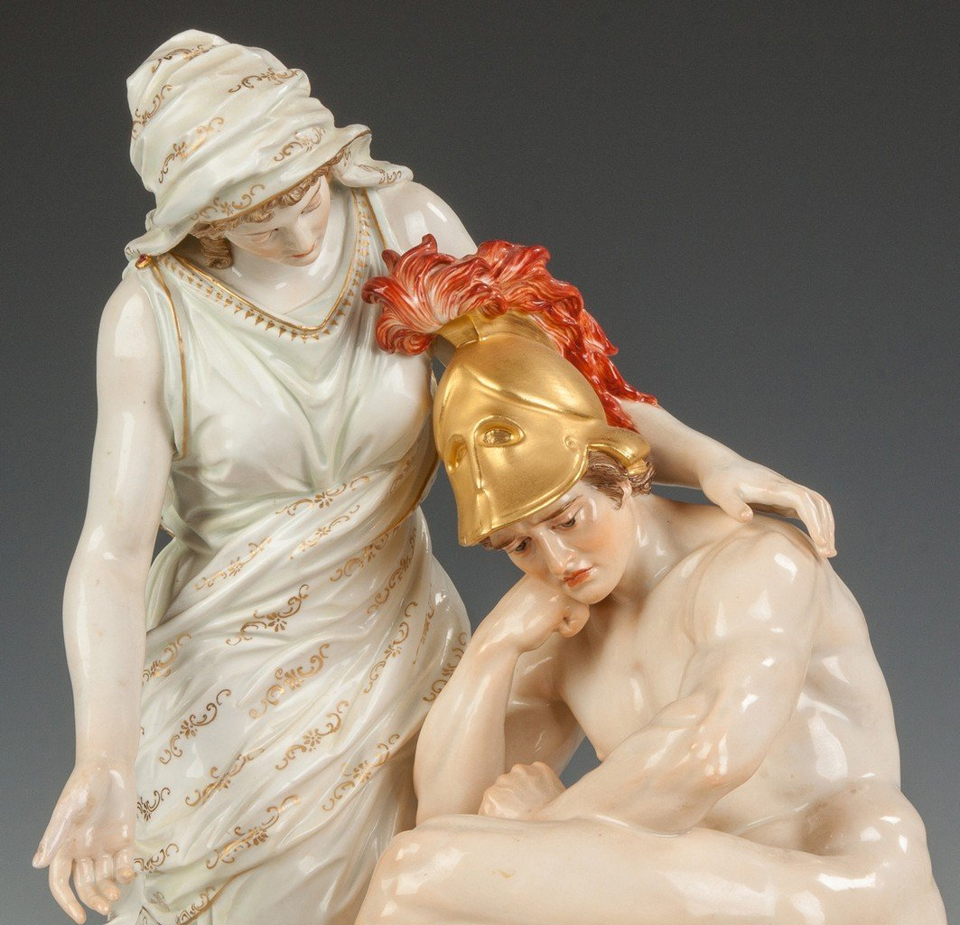 Fine Meissen Figural Group with a Woman and Centurion - 2