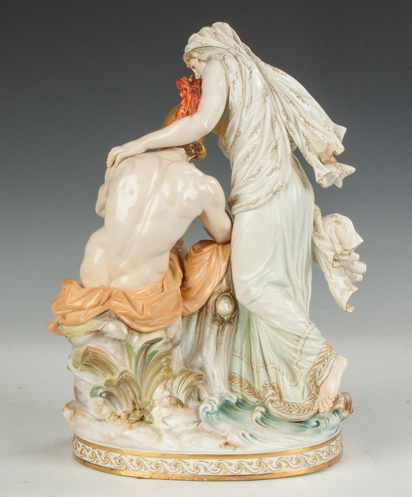 Fine Meissen Figural Group with a Woman and Centurion - 3