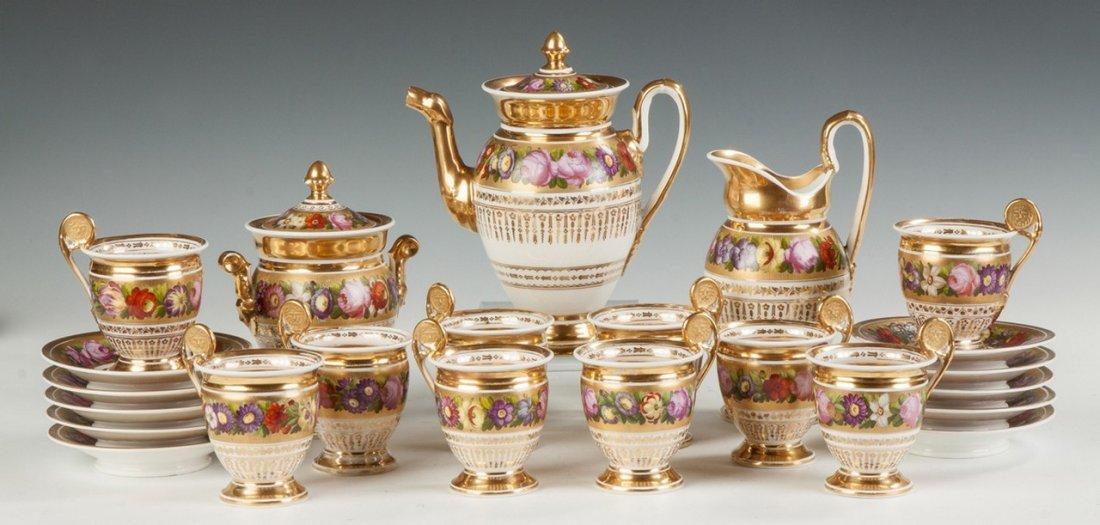 Old Paris Porcelain Coffee Service