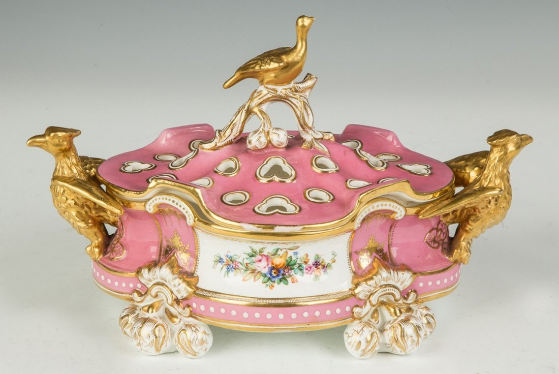 French Sevres Style Potpourri with Eagles