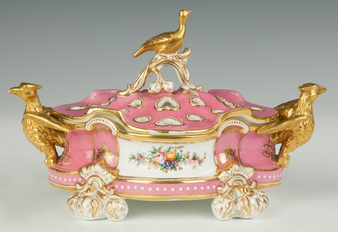 French Sevres Style Potpourri with Eagles - 2