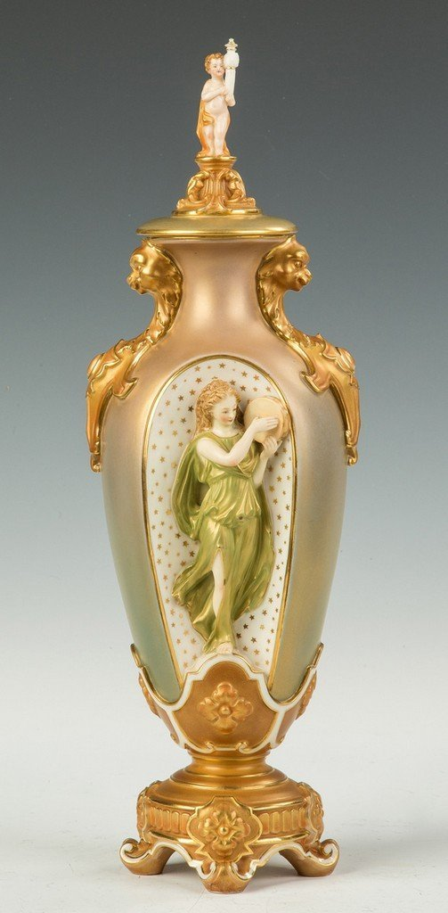 Royal Worcester Porcelain Vase Retail by Tiffany & Co.,