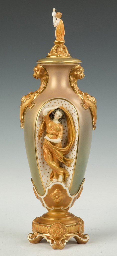 Royal Worcester Porcelain Vase Retail by Tiffany & Co., - 2