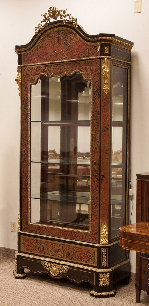 Boulle Display Cabinet with Beveled Glass - 2