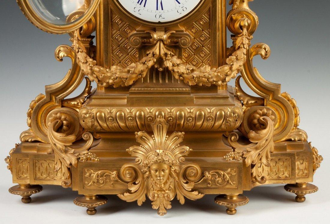 Fine Charpentier & Co. Gilt Bronze Mantle Clock - 3