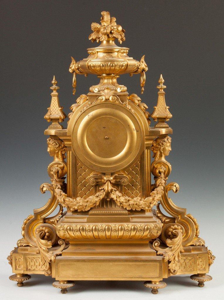 Fine Charpentier & Co. Gilt Bronze Mantle Clock - 4
