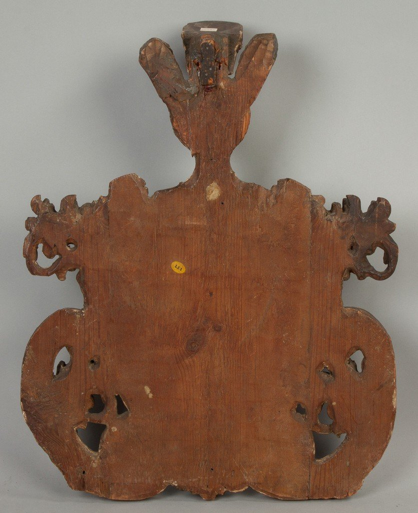 Early Italian Carved and Painted Coat of Arms - 2