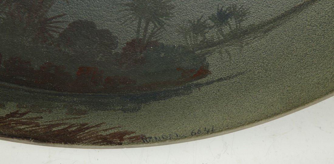 Handel Reverse Painted Egyptian Ruins Lamp - 3