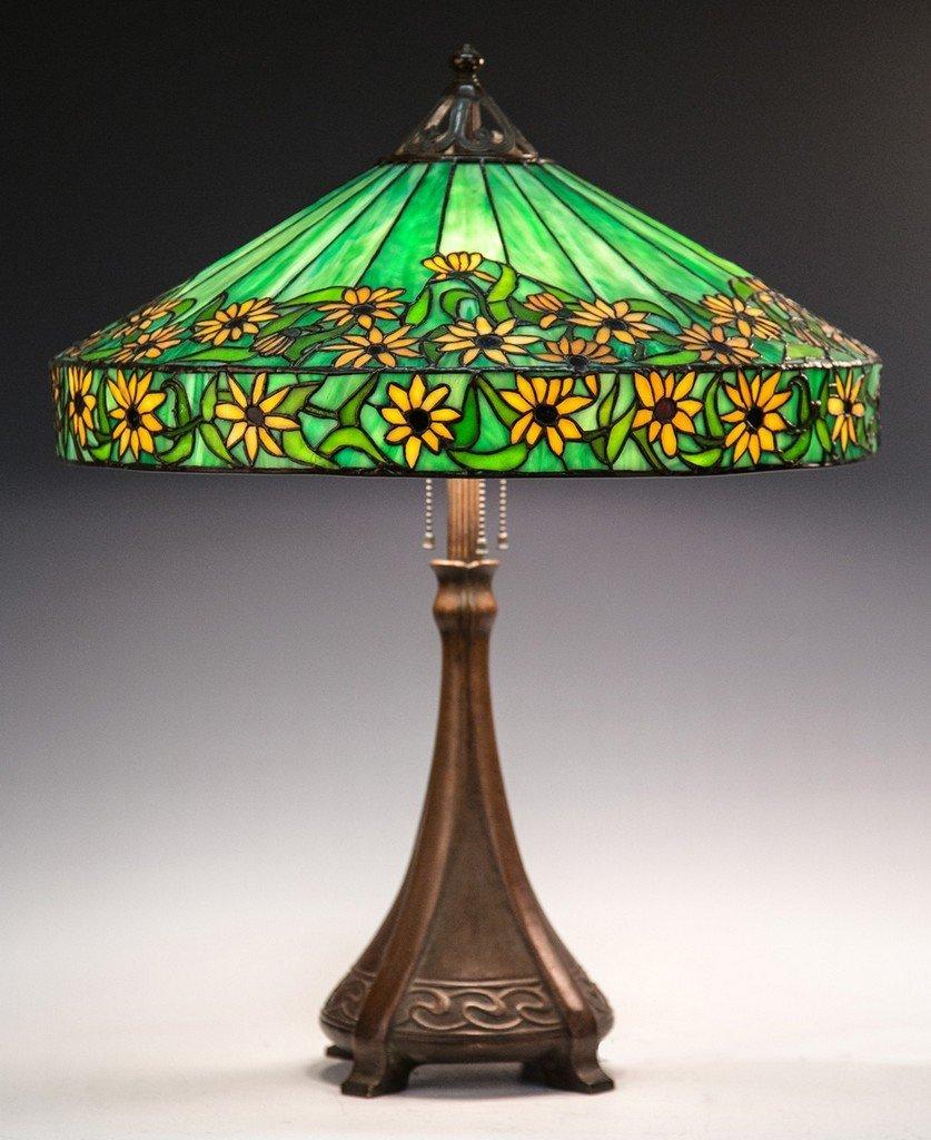Handel Black Eyed Susan Leaded Glass Lamp