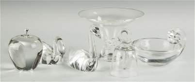 Group of Steuben Crystal