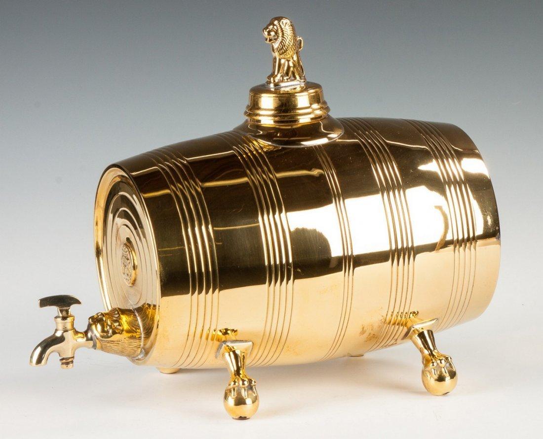 English Brass Wine Barrel