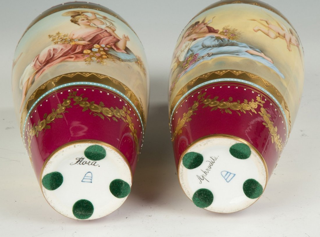 Austrian Hand Painted Porcelain and Enameled Vases - 4