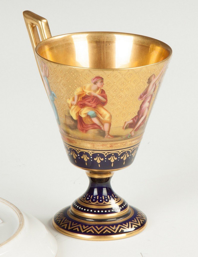 Royal Vienna Porcelain Cup and Saucer - 2