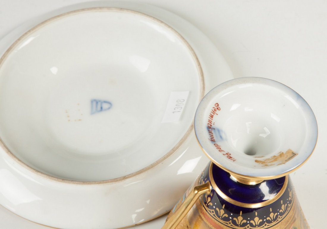 Royal Vienna Porcelain Cup and Saucer - 3