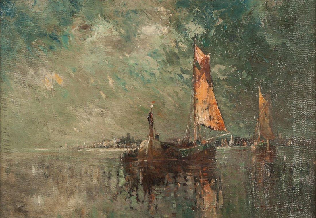 Edwin Landseer Harris (American, 1858–1901) Boats at - 2