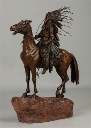Carl Kauba (American/Austrian, 1865-1922) Indian Chief