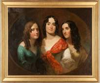 Portrait of Three Ladies in the Style of Thomas Sully