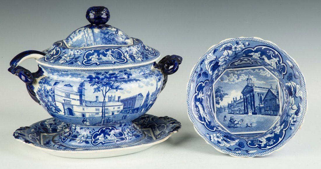 Two Staffordshire Serving Pieces