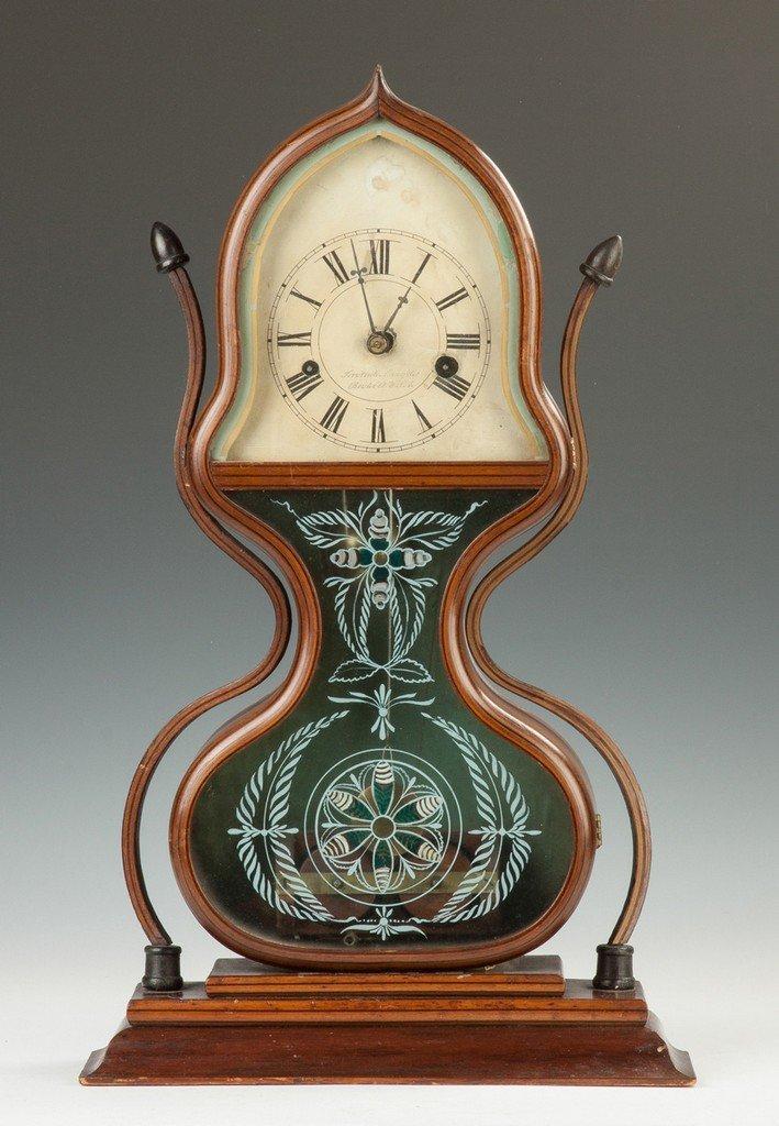 J.C. Brown Acorn Shelf Clock, for Forestville, Bristol,