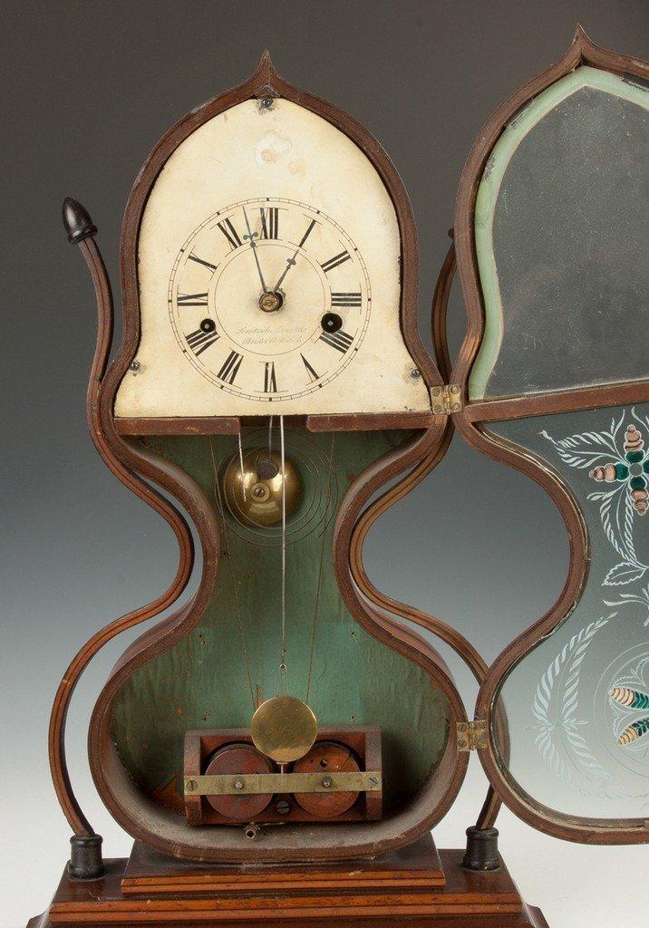 J.C. Brown Acorn Shelf Clock, for Forestville, Bristol, - 2