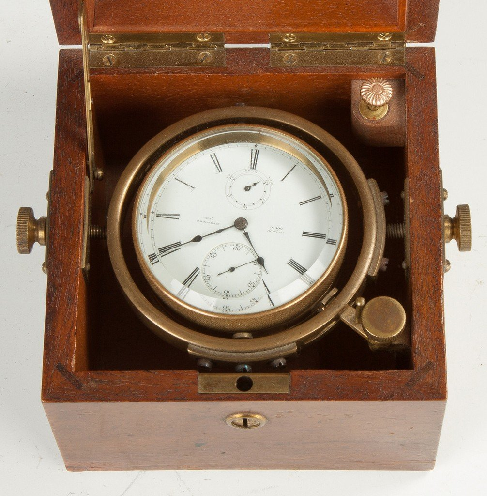 Chas. Frodsham Deck Watch in Wood Box