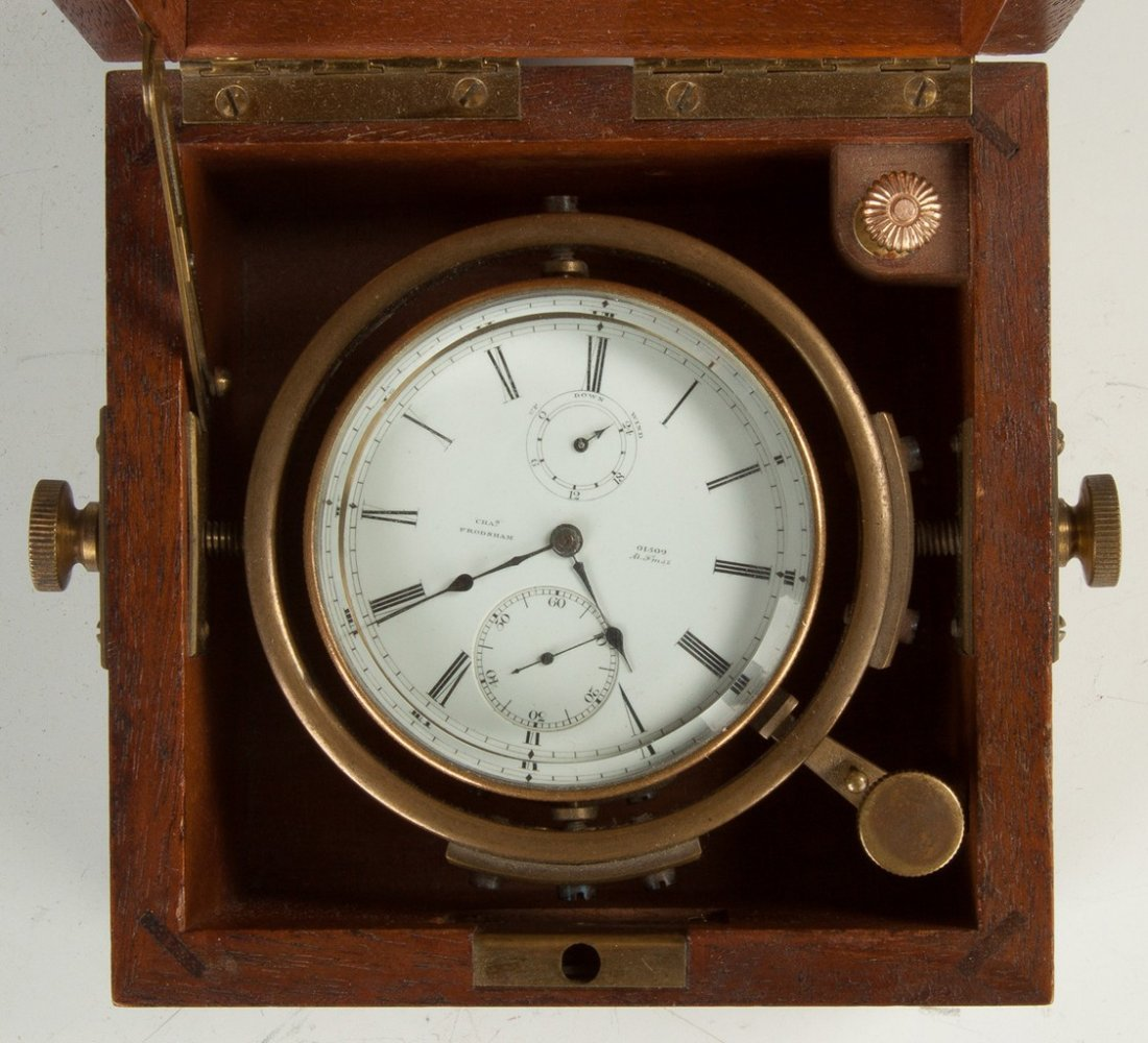 Chas. Frodsham Deck Watch in Wood Box - 2