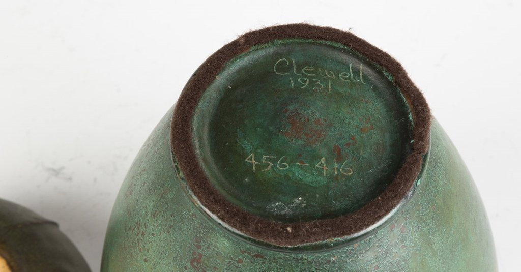 Clewell Copper over Pottery Vase - 2