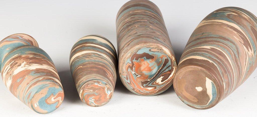 Four Niloak Art Pottery Vases - 2