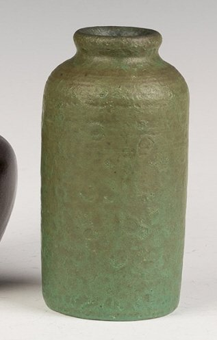 Arts and Crafts Green Vase