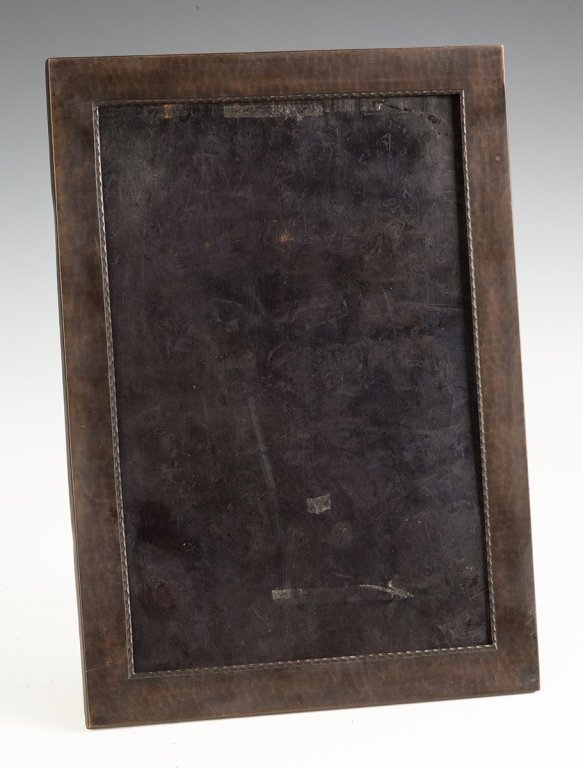 Roycroft Hammered Copper Standing Picture Frame