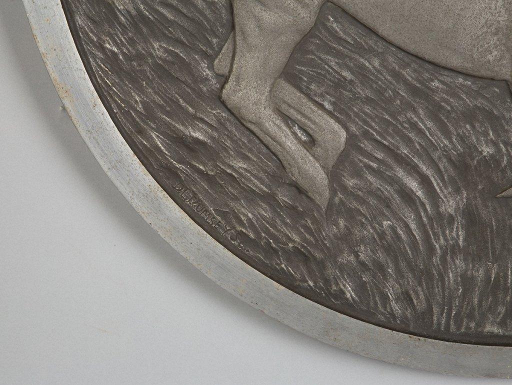 Cast Aluminum Wall Plaque, Three Stallions - 2