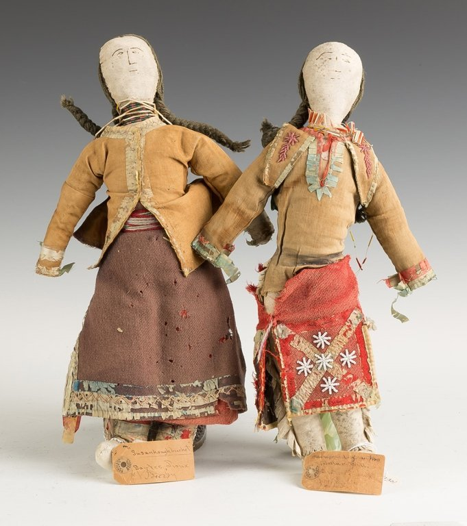 Santee Sioux Cloth and Buckskin Dolls