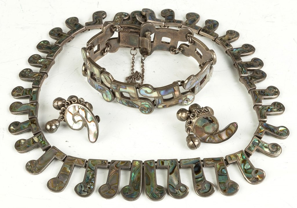 Vintage Los Castillo Navajo Necklaces, Bracelet and Ear