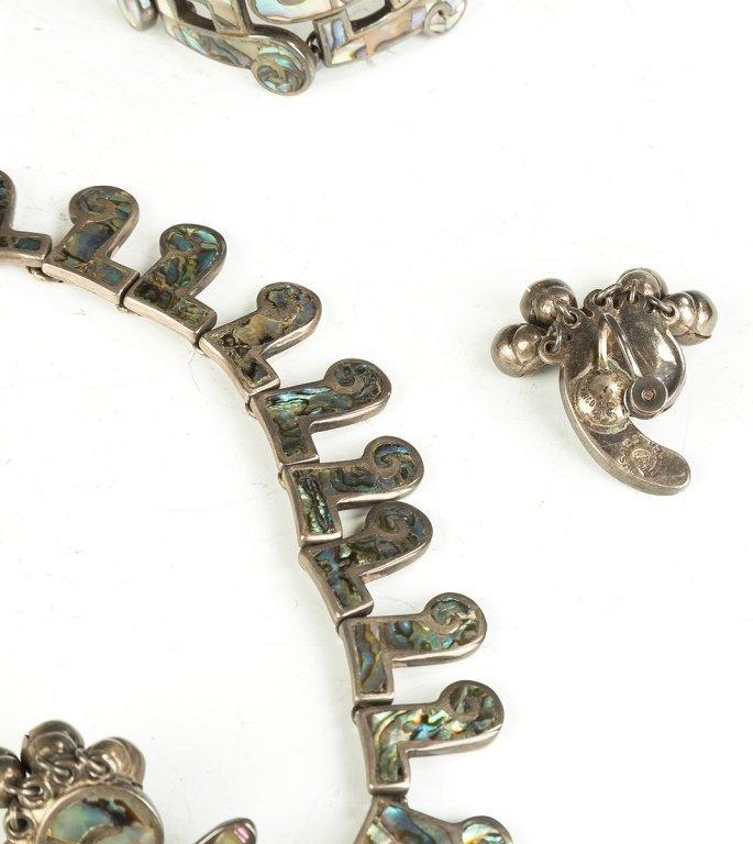 Vintage Los Castillo Navajo Necklaces, Bracelet and Ear - 2