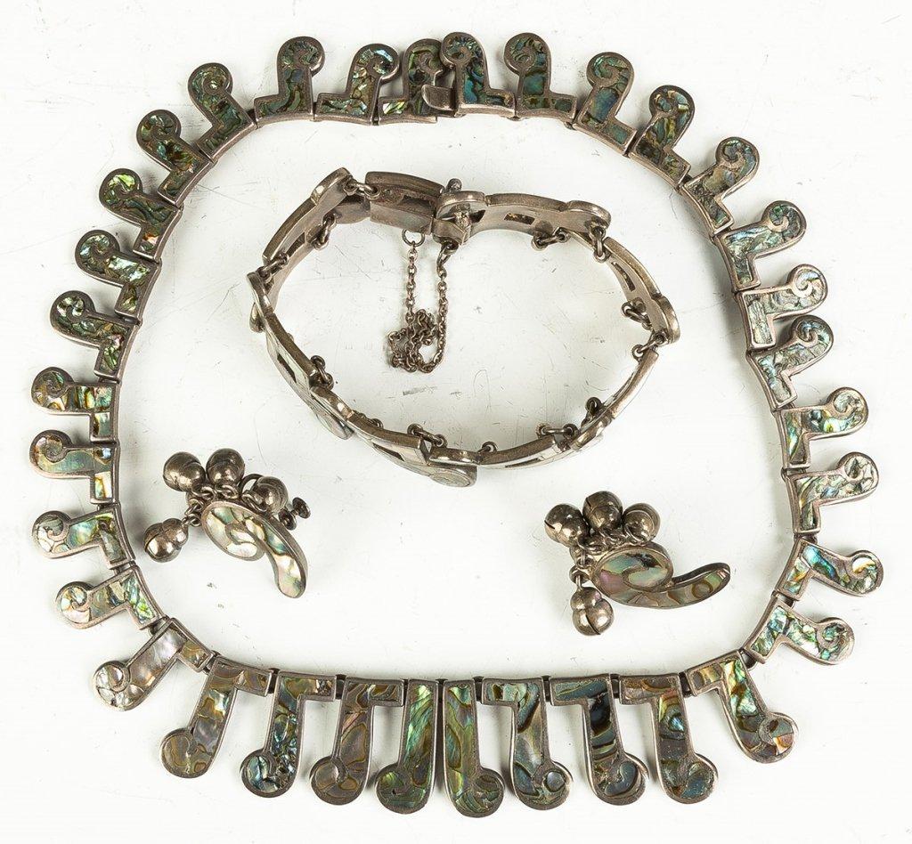 Vintage Los Castillo Navajo Necklaces, Bracelet and Ear - 5