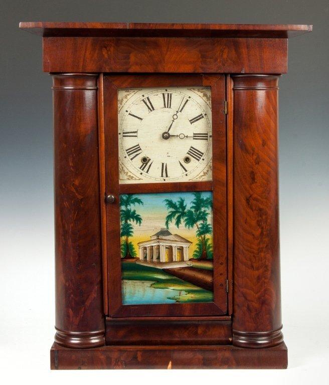 Mark Levenworth Empire Faux Hollow Column Shelf  Clock,