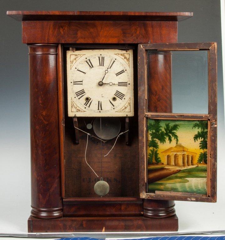 Mark Levenworth Empire Faux Hollow Column Shelf  Clock, - 2