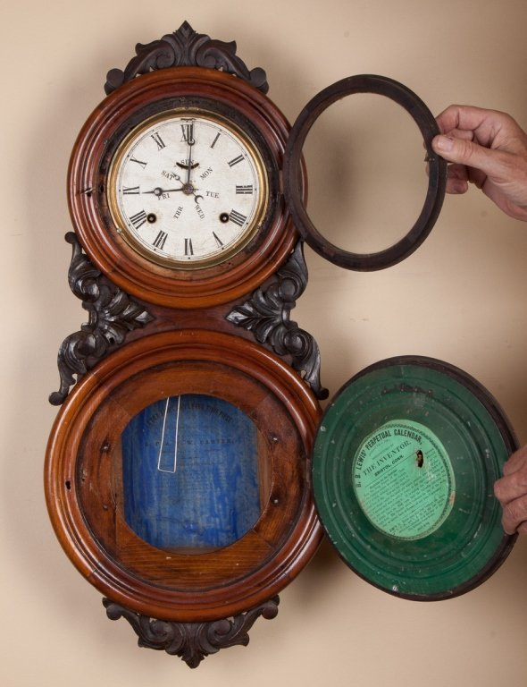 B.B. Lewis Double Dial Calendar Wall Clock,  Bristol, - 2