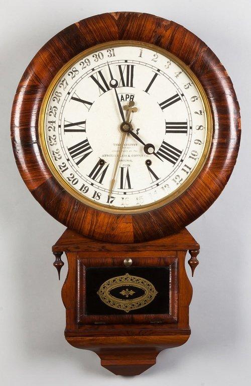 Ansonia Brass & Copper Co. Calendar Clock, CT