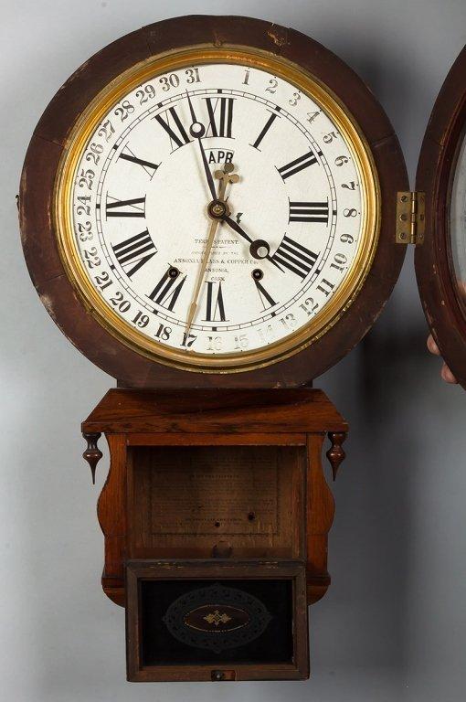 Ansonia Brass & Copper Co. Calendar Clock, CT - 2