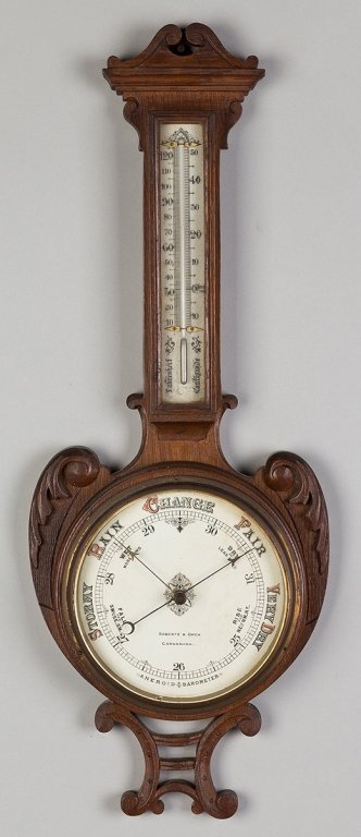 Roberts and Owen Barometer and Thermometer