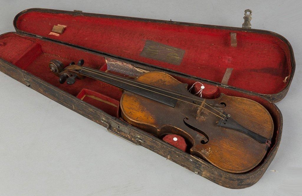 Vintage Violin in Wood Case