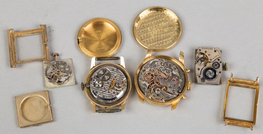Four Men's Gold Wrist Watches - 2