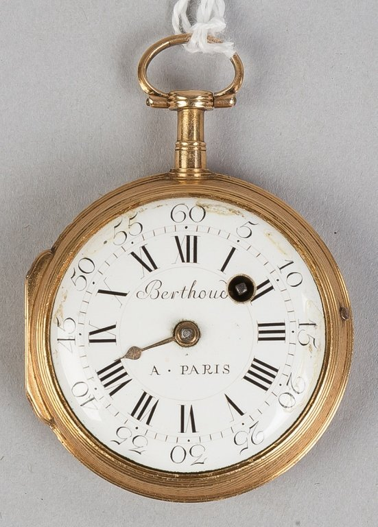 Berthonch, Paris 18k Gold Pocket Watch